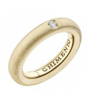 Picca Solitary Woman's Ring - in Yellow Gold with Diamonds