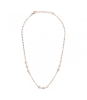 Picca Woman's Necklace - Heart in White Gold with Natural Diamonds and Rubies