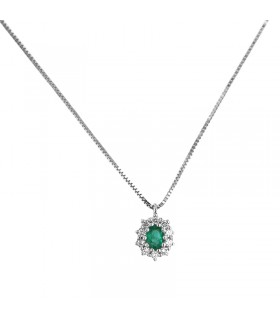 Rue Des Mille Woman's Necklace - with White Heart Pendant