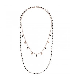 Boccadamo Woman's Necklace - Two Strands with Natural and Baroque Pearls