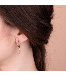 Picca Woman's Earrings - in White Gold with Natural Diamonds