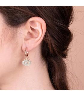 Boccadamo Woman's Earrings - Coral Pendants with Swarovski Crystal