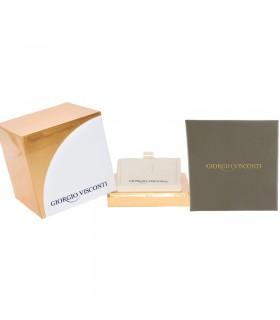 Buonocore Woman's Tennis Bracelet - in White Gold with Black Diamonds