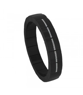 BREIL BRACELET IN BLACK ROPE AND STEEL