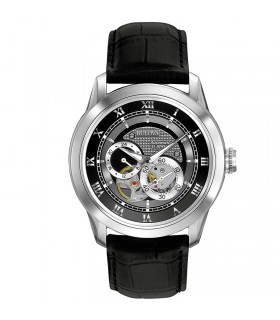 BREIL CLIVE BRACELET IN BLACK LEATHER AND STEEL