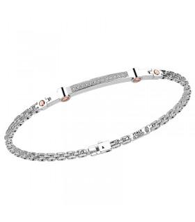 Bracciale Zancan per Uomo - in Oro Bianco con Diamanti Naturali