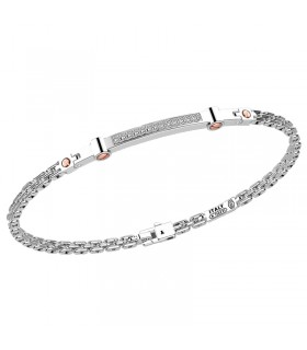 Zancan Bracelet for Men - in White Gold with Natural Diamonds - 0