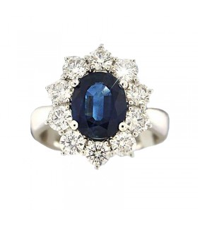 PICCA GIOIELLI SAPPHIRE AND DIAMONDS RING - 0