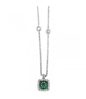 MILUNA GOLDEN NECKLACE WITH CROSS AND DIAMONDS