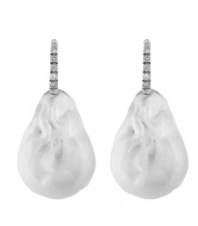 MILUNA EARRINGS WITH GOLD QUEEN PEARLS