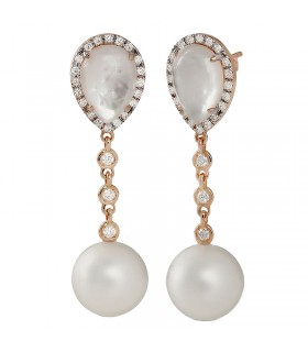 Miluna Earrings with Pearls Terra Mare for Woman