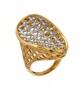 Picca ring in rose gold and diamonds for woman