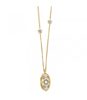 Chirico pendant with diamonds and emeralds for woman