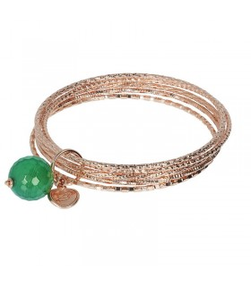 Hoops Luxury Silver and Gold Spring Green Woman's Watch
