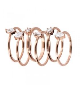 Rue Des Mille Lobo Woman's Brooch Earrings