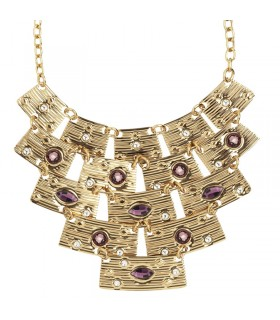 Davite & Delucchi Necklace with Diamonds and Ruby for Woman