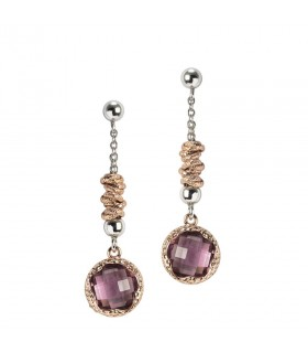 Davite & Delucchi Earrings with Diamonds and Ruby for Woman