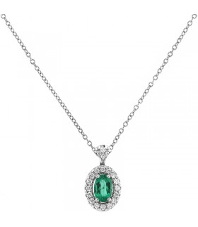 Giorgio Visconti Women's Flower Necklace with Diamonds