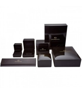 Roberto Demeglio Women's Pura Satin Black Bracelet with Brown Diamonds